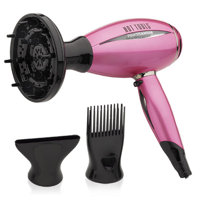 Hot Tools Pink Titanium Prof. Ionic Hair Dryer