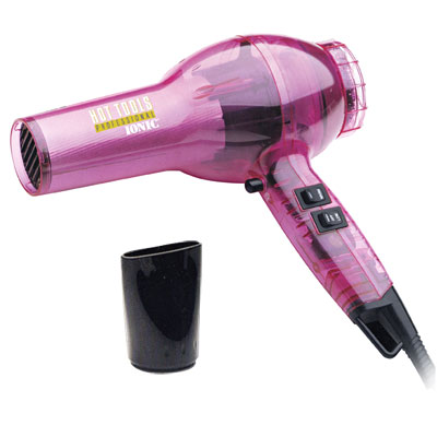 Hot Tools Professional Pink Transparent Hair Dryer