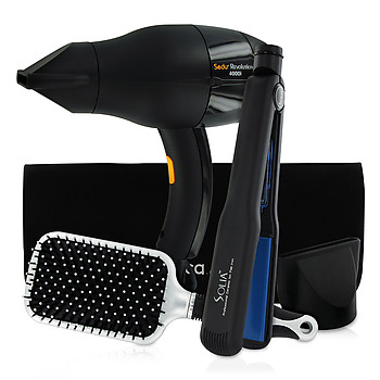 "Sedu Revolution 4000i Hair Dryer and Solia 1 1/4"" Flat Iron Set DZDD"